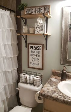Farmhouse bathroom decorating ideas - cheap farmhouse decor ideas for decorating. IKEA Is Totally Changing Their Kitchen Cabinet System. Please Remain Seated During Entire Performance Wood Signs Bathroom Humor, Bathroom Signs, Rustic Bathroom Decor, Small Bathroom Decorating, Bathroom Theme Ideas, College Bathroom Decor, Teenage Bathroom Ideas, Bathroom Organization, Bath Tub Decor Ideas