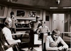 A cool shot behind the scenes while filming the original series. Description from treksinscifi.com. I searched for this on bing.com/images