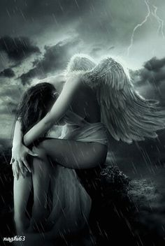Send me an angel / Envoyez-moi un ange Sad Angel, Angel And Devil, Crying Angel, Dark Angels, Fallen Angels, Angels Among Us, Angels And Demons, Dark Fantasy Art, Gothic Angel