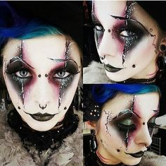 Clown halloween makeup
