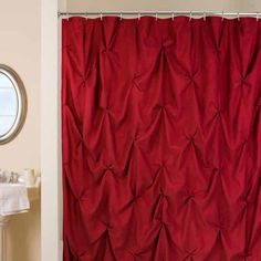 Pouf Red Shower Curtain $50.00