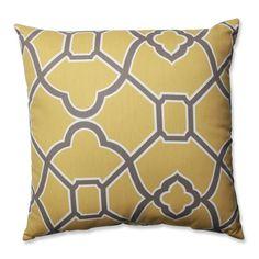 Bali Butterscotch Throw Pillow