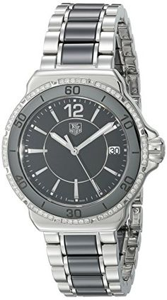6966f15d0 Amazon.com: TAG Heuer Women's WAH1212.BA0859 Formula One Stainless Steel  Black Dial Watch: Tag Heuer: Watches