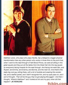 J.K. on Matthew Lewis becoming attractive. yes.