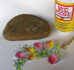 How to Mod Podge a Napkin onto Rocks - Tips & Ideas