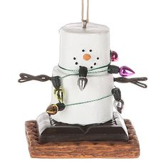 2016 S'mores Snowman Tangled Up Ornament