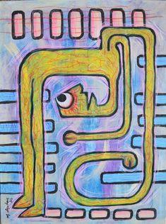 Canadian Alberta artist - Murray Degelman Online Painting, Outsider Art, Old Friends, The Outsiders, Best Gifts, Artwork, Artists, Work Of Art, Auguste Rodin Artwork