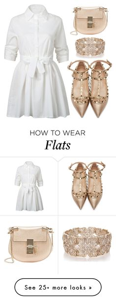 """""""white dress 2"""" by srpcicnadia on Polyvore featuring WithChic, Valentino, Chloé and Oasis"""