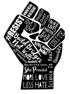 Resist Fist Anti Trump Protest Shirt Black Lives Matter More Love Less Hate Love Is Love Woman's Equality Nasty Woman Feminist Shirt Gift Trump Protest, Protest Signs, Black Lives Matter Shirt, Black Lives Matter Quotes, Black Girl Art, Power To The People, Black Power, Grafik Design, Black People