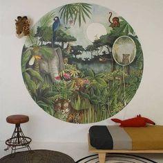 Hartendief Kinderbehang Regenwoud Cirkel met een doorsnede van 190 cm