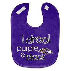Baltimore Ravens Mesh Drool Baby Bib - Purple  Someone needs to buy this for me when I have a kid.