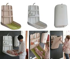 Baby Furniture from Bybo: Space Saving  Wall Mounted Baby Changing Table: Brilliant but pricey