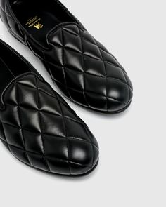 Quilting Opera Shoes in Black – Mohawk General Store Step Function, Tokyo Design, General Store, Contemporary Fashion, Quilted Leather, Loafers Men, Black Shoes, Opera, Oxford Shoes