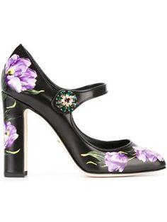 tulip print Mary Jane pumps