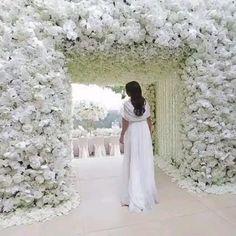 White Wedding Decorations, Luxury Wedding Decor, Reception Decorations, Wedding Stage, Dream Wedding, Rooftop Wedding, Wedding Music, Wedding Videos, Wedding Photos