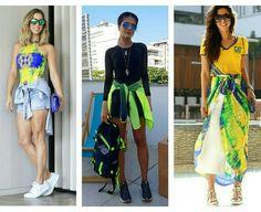 Look inspiração das blogueiras de como ir às competições nas olimpíadas.
