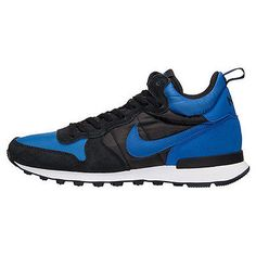 Nike Internationalist Mid Mens 682844-404 Black Royal Blue Athletic Shoes Sz 10