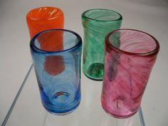 Shoply.com -Hand Blown Art Shot Glass - Set of 4. Only $60.00