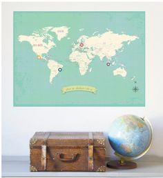 World Travel Map - posters - Aan de wand - WOONACCESSOIRES
