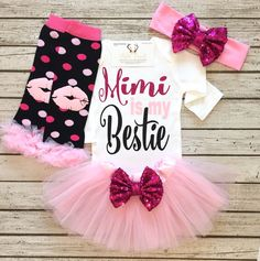 A personal favorite from my Etsy shop https://www.etsy.com/listing/488428453/baby-girl-clothes-mimi-is-my-bestie
