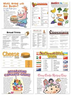 Whats Cooking Theme Party Planning, Ideas & Supplies >> Printable Games for your Cooking Party