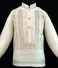 Piña-Jusi Boy's Barong Tagalog - Barongs R us Barong Tagalog, Filipiniana Dress, Philippines Fashion, Line Shopping, Formal Looks, Pinoy, Suits, Stylish, Boys