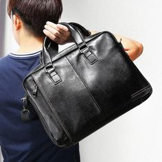 Cheap handbag briefcase, Buy Quality leather briefcases men directly from China genuine leather briefcase men Suppliers: LUENSRO Genuine Leather Bag Men Bag Cowhide Men Crossbody Bags Men's Travel 14 inch Shoulder Bags Tote Laptop Briefcases Handbag Leather Laptop Bag, Laptop Tote, Leather Briefcase, Laptop Shoulder Bag, Shoulder Bags, Mens Travel, Handbags For Men, Briefcase For Men, Leather Men