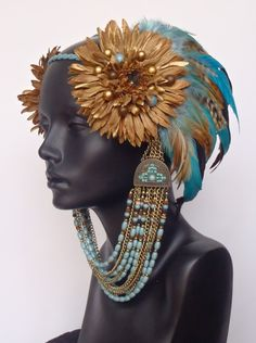 small : Miss G Designs – Custom Feather Headpieces From California