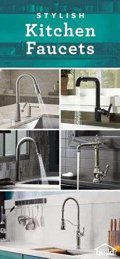 fitness - There's so much to consider when shopping for a new faucet Shop Build com to find the latest styles, options, brands and everything else to consider when finding your new fixture Kitchen Redo, Kitchen And Bath, New Kitchen, Kitchen Remodel, Kitchen Faucets, Kitchen Ideas, Kitchen Layout, Kitchen Designs, Kitchen Cabinets