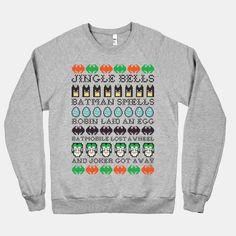 Jingle Bells Batman Smells Ugly Sweater | HUMAN | T-Shirts, Tanks, Sweatshirts and Hoodies