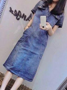European Loose Jeans Dress