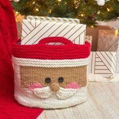 Yarnspirations are back with another fab free Christmas knitting pattern. Use their tutorial to knit up this Santa basket and get him ready to be brimming with presents.