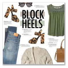 """""""Step Up: Block Heels"""" by kellylynne68 ❤ liked on Polyvore featuring Hollister Co., Citizens of Humanity, Prada, Gap and Illesteva"""