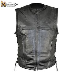 Special Offers - Xelement B95140 Mens Advanced Collarless Design Motorcycle Vest  3X-Large - In stock & Free Shipping. You can save more money! Check It (August 24 2016 at 09:32PM) >> http://motorcyclejacketusa.net/xelement-b95140-mens-advanced-collarless-design-motorcycle-vest-3x-large/
