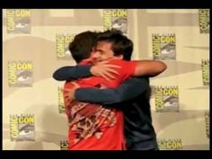 David Tennant and John Barrowman Kiss and then John has a bit of a fangirl freakout.  I am laughing SO HARD.  I CAN'T.  I JUST...  @Sandra Webster