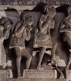 Pilgrims by Gislebertus, 12.st