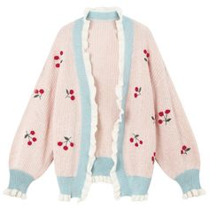 Apr 2020 - Spring Autumn Cherry Embroidery Knitted Sweater sold by KoKo Fashion. Shop more products from KoKo Fashion on Storenvy, the home of independent small businesses all over the world. Harajuku Fashion, Kawaii Fashion, Look Fashion, Korean Fashion, Quirky Fashion, Fashion Spring, Mode Outfits, Fashion Outfits, Estilo Harajuku