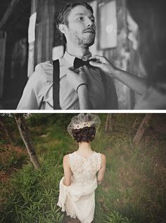 bow tie and pretty back.