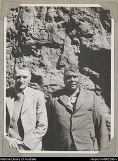 Portrait of Rex Battarbee with Albert Namatjira, Northern Territory, ca. 1946