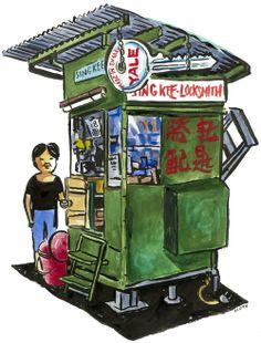 Michael Sloan - HONG KONG STREET MARKET PAINTINGS