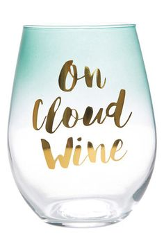 SLANT COLLECTIONS Slant Collection 'On Cloud Wine' Stemless Wine Glass available at #Nordstrom
