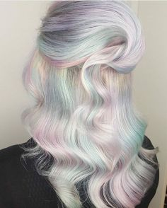 Beauty: Fantasy Unicorn Purple Violet Red Cherry Pink Bright Hair Colour Color Coloured Colored Fire Style curls haircut lilac lavender short long mermaid blue green teal orange hippy boho ombré woman lady pretty selfie style fade makeup grey white silver