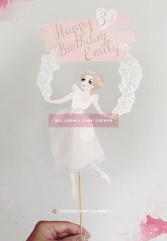 Ballerina There Birthday Party | Printable Cake Topper