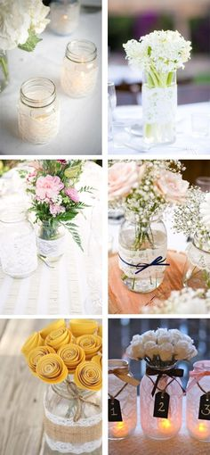 To help you decide the themes and what typical decorations you are going to execute, we present these masterly retirement party ideas. Retirement Party Decorations, Wedding Decorations, Table Decorations, Deco Floral, Ideas Para Fiestas, Deco Table, Diy Wedding, Diy And Crafts, Mason Jars