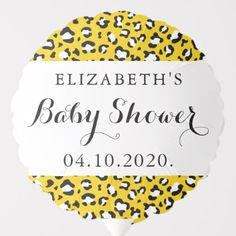 Shop Baby Shower - Animal Print, Leopard - Yellow Balloon created by partyprogram.