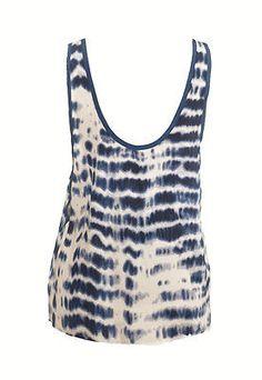 Nameless T5186 Tie Dye Sleeveless Cami Womens Shirts Blue Size L ~