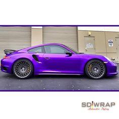 This Porsche is sweet as candy with a ‪wrap‬ in Arlon 2600LX Amethyst Candy. Thx SD Wrap, sdwrap.com