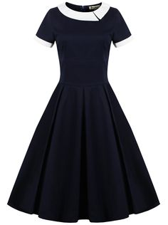 OOOH!  And not to mention Vannie would probably like this short sleeved version even better!  Women's 50s Style Vintage Dress (Premium): Amazon Fashion