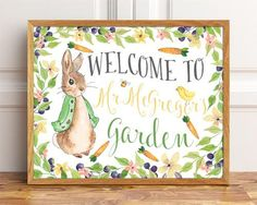 Welcome to Mr McGregor's Garden, Peter Rabbit Sign, Party Sign, Mr Mc Gregor Garden, Beatrix Potter, Peter Rabbit Prints, Party Signs