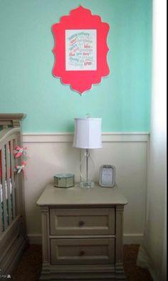 Annsley S Coral Grey And Aqua Nursery Nursery